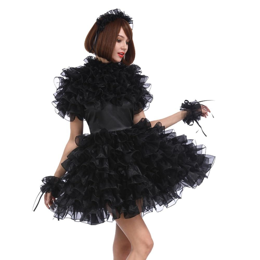 Lockable Black Sissy Dress Sissy Panty Shop