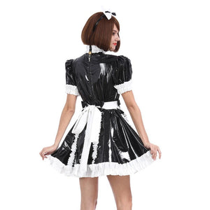 Sissy Girl Maid Bow Lockable Dress