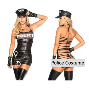 Police Costume Sissy Panty Shop