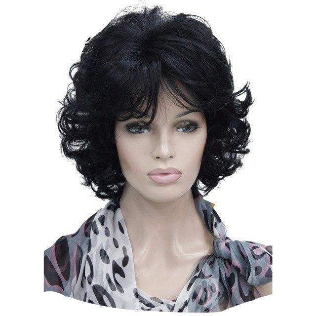 """Sissy Amanda"" Curly Wig Sissy Panty Shop Black 12inches"