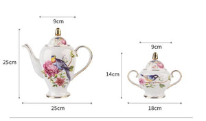 European Porcelain Sissy Maid Tea Set