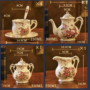 15pcs British Royal Sissy Maid Porcelain Tea Set Sissy Panty Shop