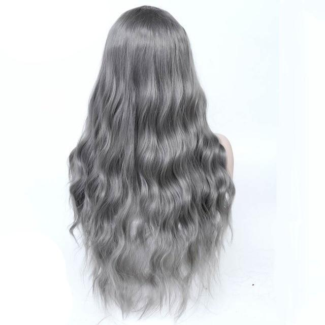 """Sissy Tania"" Wavy Long Wig Sissy Panty Shop Silver Grey 26inches"