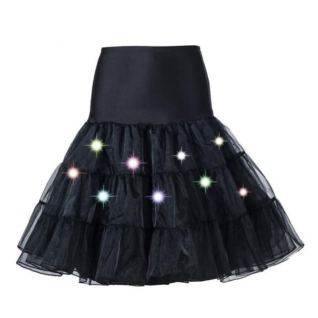 Tulle Petticoat with Lights Sissy Panty Shop Black One Size