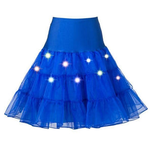 Tulle Petticoat with Lights Sissy Panty Shop dark blue One Size