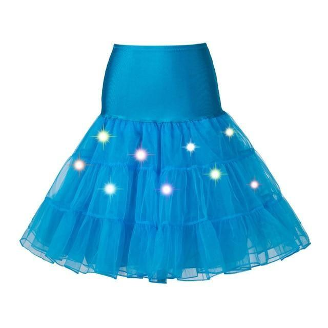 Tulle Petticoat with Lights Sissy Panty Shop sky blue One Size