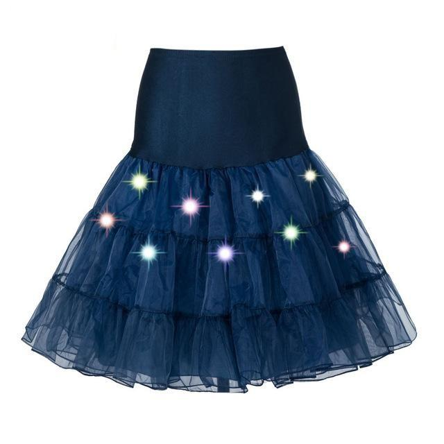 Tulle Petticoat with Lights Sissy Panty Shop Navy Blue One Size