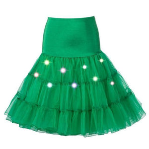 Tulle Petticoat with Lights Sissy Panty Shop Green One Size