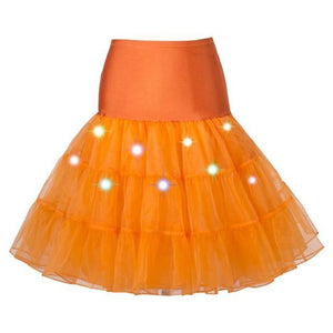 Tulle Petticoat with Lights Sissy Panty Shop Orange One Size