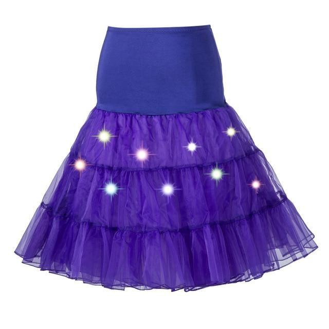 Tulle Petticoat with Lights Sissy Panty Shop Purple One Size