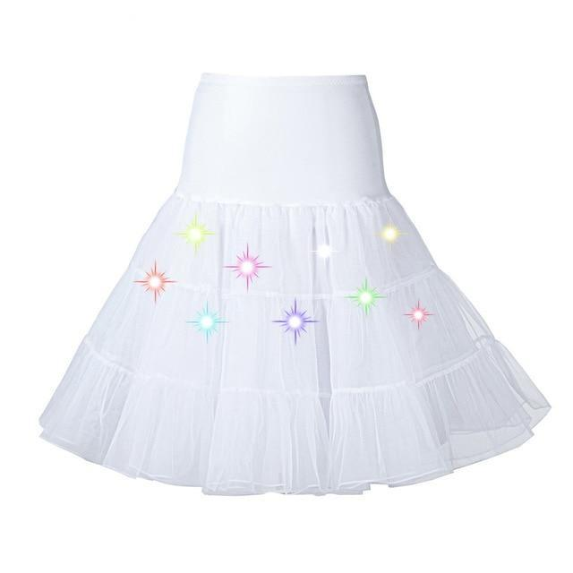 Tulle Petticoat with Lights Sissy Panty Shop White One Size