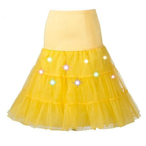 Tulle Petticoat with Lights Sissy Panty Shop YELLOW One Size