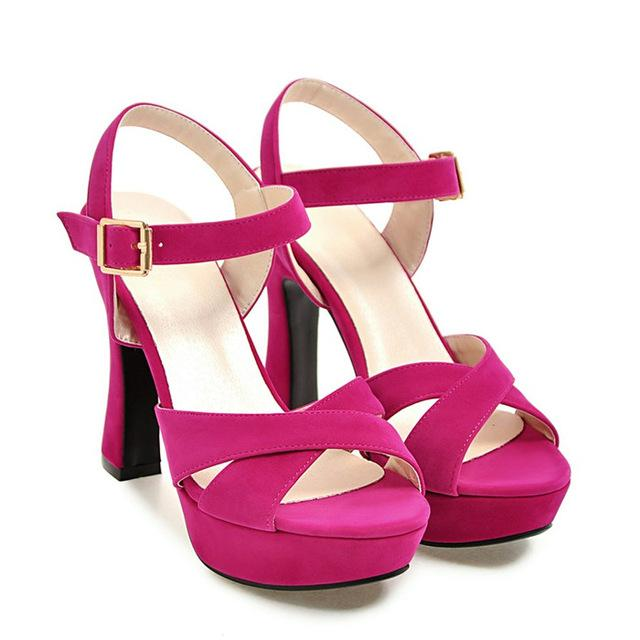 Ankle Strap Crossdressing Sandals