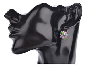 Silver Plated Multicolor Crystal Clip On Earrings Sissy Panty Shop