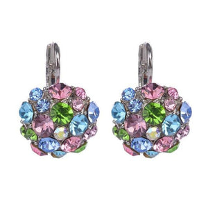 Silver Plated Multicolor Crystal Clip On Earrings Sissy Panty Shop Default Title