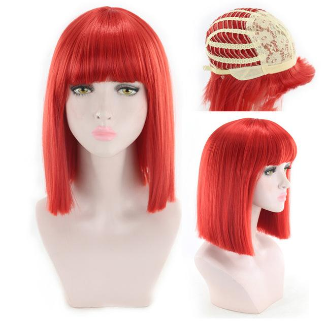 """Sissy Slave Nancy"" Wig w/ Bangs Sissy Panty Shop Red 16 inches"