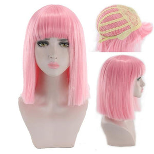 """Sissy Slave Nancy"" Wig w/ Bangs Sissy Panty Shop Pink 16 inches"