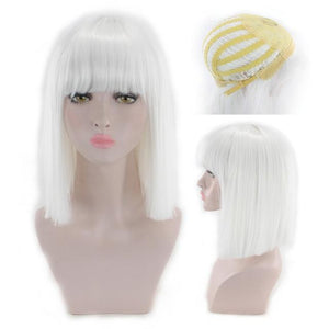 """Sissy Slave Nancy"" Wig w/ Bangs Sissy Panty Shop White 16 inches"