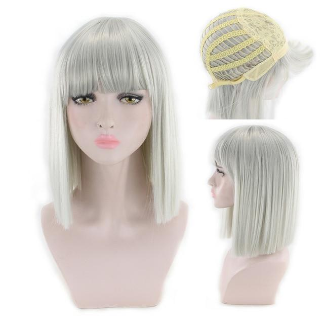"""Sissy Slave Nancy"" Wig w/ Bangs Sissy Panty Shop Silver Grey 16 inches"