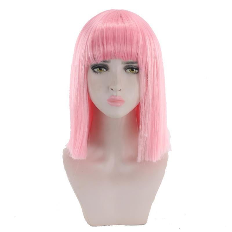 """Sissy Slave Nancy"" Wig w/ Bangs"