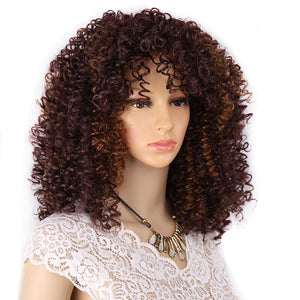 """Sissy Morgan"" Curly Wig Sissy Panty Shop Brown 18 inches"