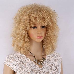 """Sissy Morgan"" Curly Wig Sissy Panty Shop Blonde 18 inches"
