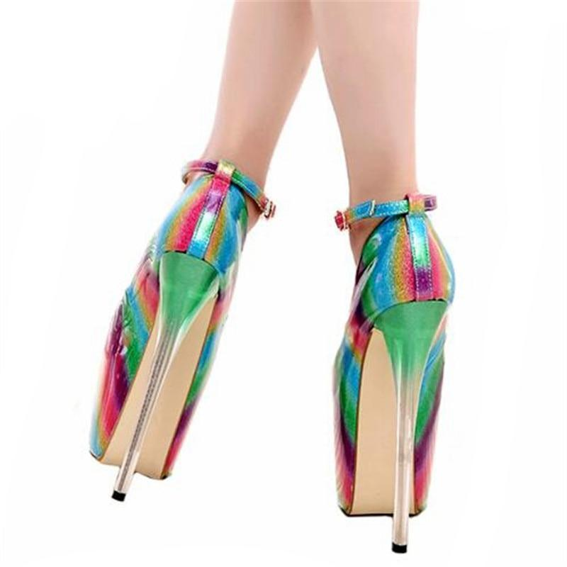 """Shemale Norma"" Rainbow Pumps Sissy Panty Shop"