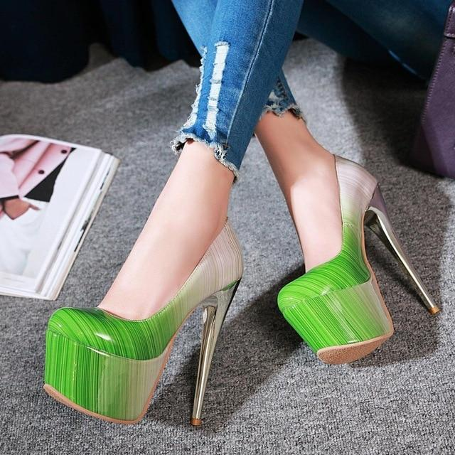"""Sissy Electra"" Ultra High Pumps Sissy Panty Shop Green 10"