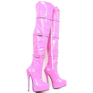 Pink Knee Thigh High Boots Sissy Panty Shop