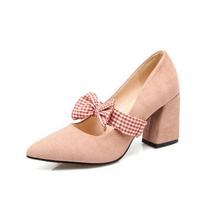 Plaid Bow Sissy Pumps Sissy Panty Shop Pink 8.5