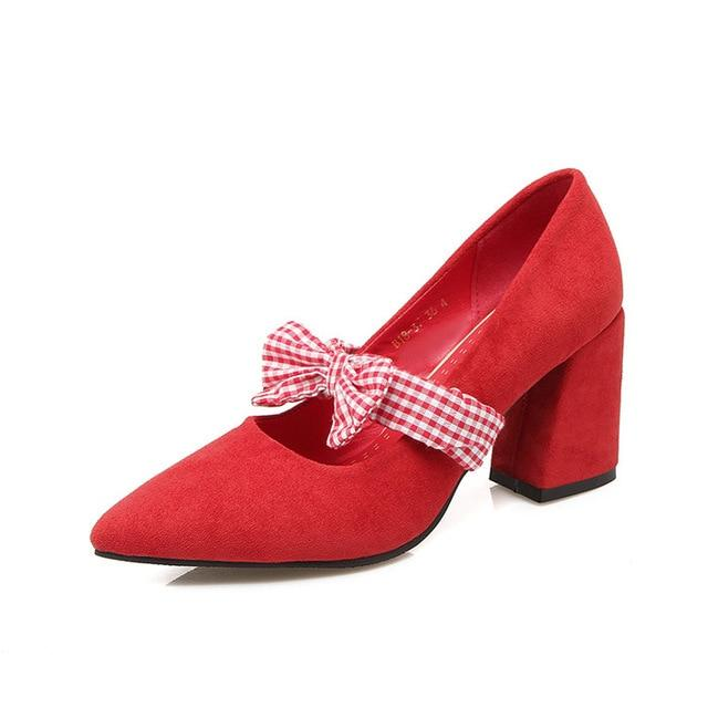Plaid Bow Sissy Pumps Sissy Panty Shop Red 8.5