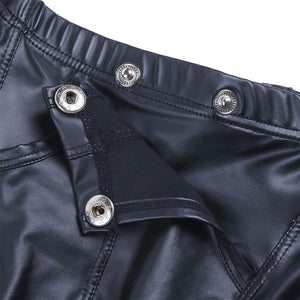 Faux Leather Bulge Pouch Boxer Shorts Sissy Panty Shop