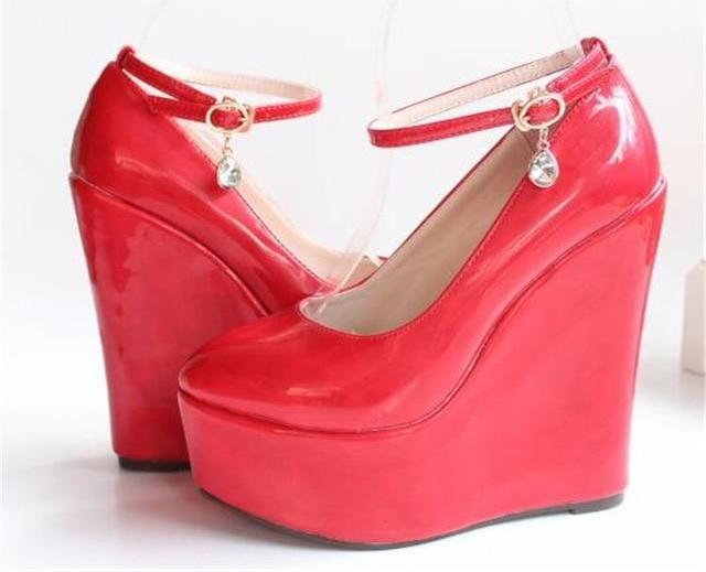 """Sissy Lucy"" Wedge Pumps Sissy Panty Shop Red 11"