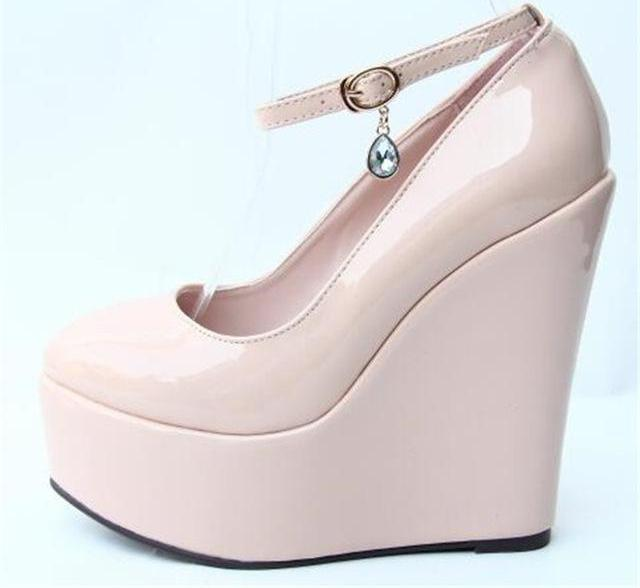 """Sissy Lucy"" Wedge Pumps Sissy Panty Shop NUDE 11"