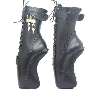 Lockable Heelless Ballet Ankle Boots Sissy Panty Shop