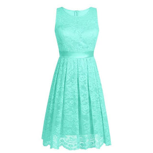 """Sissy Flor"" Sleeveless Lace Dress Sissy Panty Shop Mint Green S"