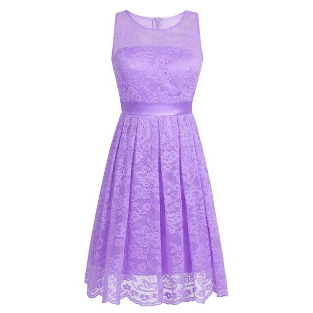 """Sissy Flor"" Sleeveless Lace Dress Sissy Panty Shop Lavender S"