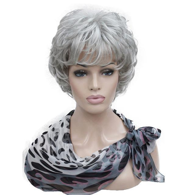 """Femboi Tyler"" Short Wig Sissy Panty Shop Gray 6inches"