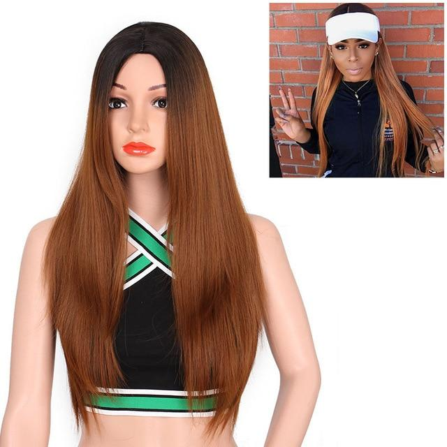 """Sissy Jennifer"" Long Straight Ombre Wig Sissy Panty Shop Red 26inches"