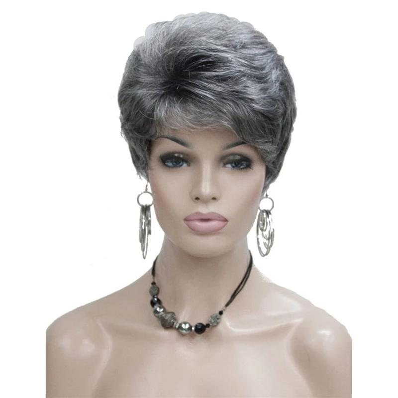 Short Wavy Mature Wig Sissy Panty Shop
