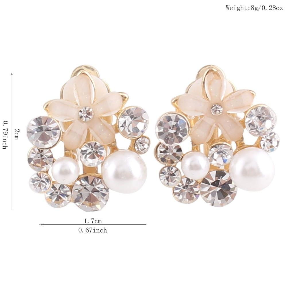 Rhinestone Simulated Pearl Clip on Earrings Sissy Panty Shop