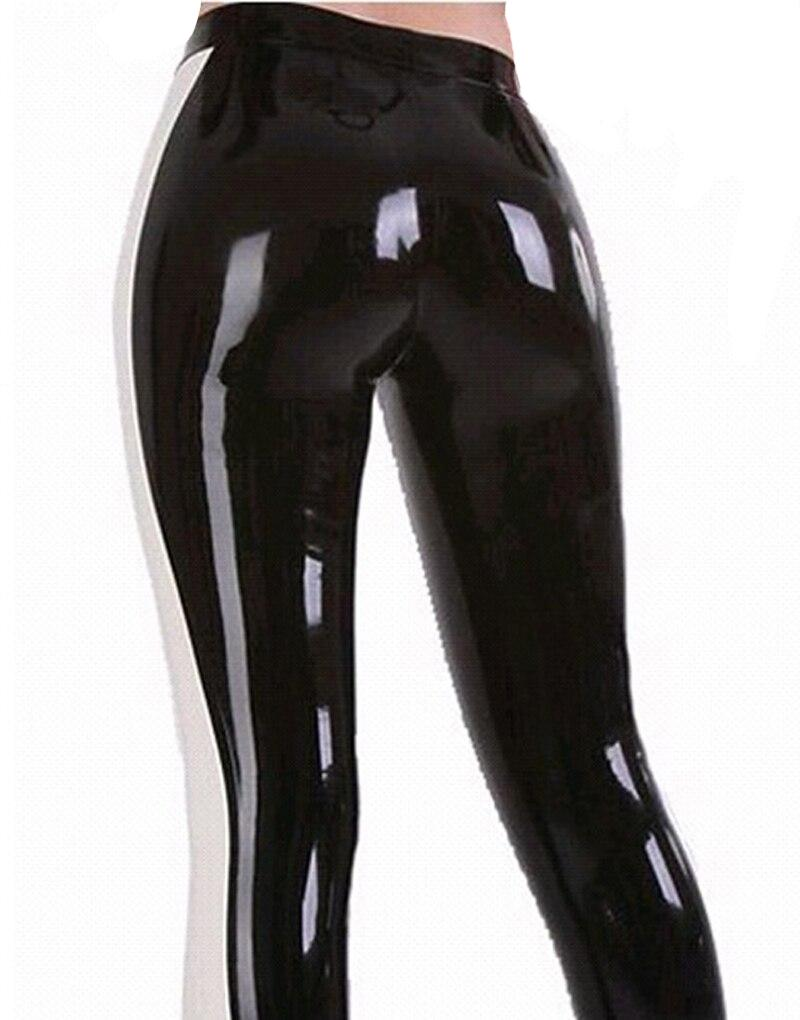 Black and White Latex Leggings Sissy Panty Shop