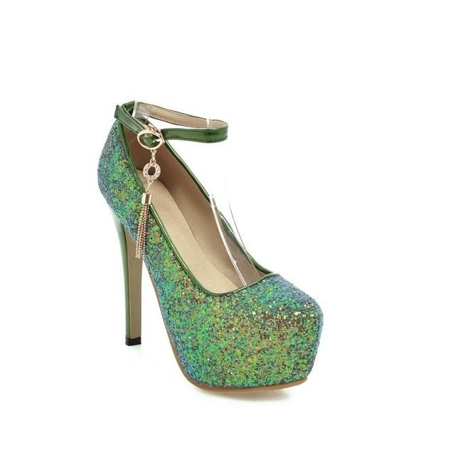 """Sissy Noelle"" Sequin Pumps Sissy Panty Shop green 3.5"