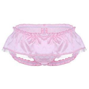 """Sissy Nancy"" Satin Panties The Sissy Panty Shop Pink M"