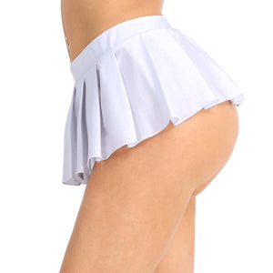 Schoolgirl Pleated Mini Skirt Sissy Panty Shop