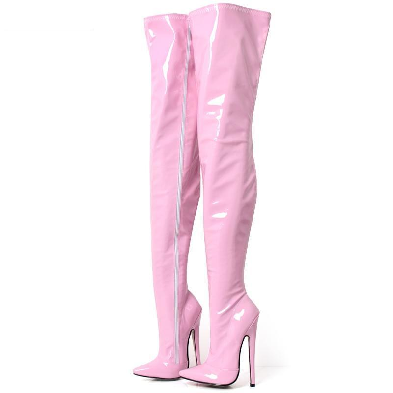 """Sissy Trixie"" Thigh High Crotch Boots Sissy Panty Shop"