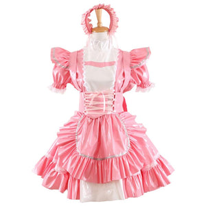 Pink Sissy Maid Dress Uniform