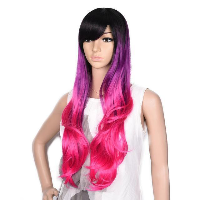 Bimbo Jane Wig Sissy Panty Shop hot pink 24inches