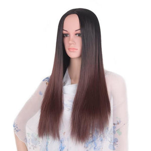 Bimbo Jane Wig Sissy Panty Shop ombre dark brown 24inches