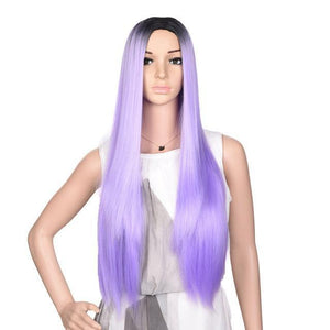 Bimbo Jane Wig Sissy Panty Shop ombre purple 24inches